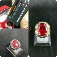 Cincin BAtu Ruby Corundum Super Titanium