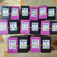 tinta merk HP 678 warna seken kosongn