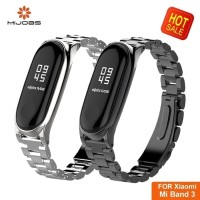 MIJOBS Miband 3 mi band 3 metal Stainless steel plus Strap Replacem