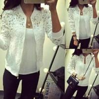 Jaket Selena Black White Jaket Brukat Hitam putih