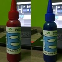 tinta textile merah dan biru 100 ml for printer DTG
