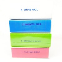 Nail Buffer Block 4 Way Nail Art Amplas Kuku Manicure Pedicure Manikur
