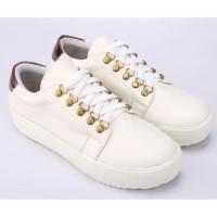 Sepatu Casual Sneakers Wanita Cewek Cewe Sneaker Warna Putih SL 017