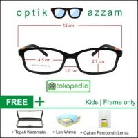 Frame Kacamata Anak Warna Hitam Set Bundle Tanpa Lensa (Frame Only)