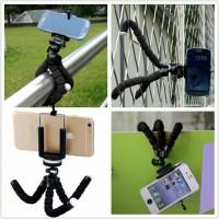 PAKET Fleksibel Gorilla Pod Spider Flexible Mini Tripod Plus Holder HP