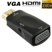 Full HD 1080P HDMI Male to VGA and Audio Adapt komputer computer murah