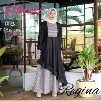 Jual Dress Muslim Murah/terbaru/REGINA MAXY PR001 BLACK/Best Seller