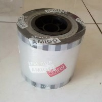 Lid Seal plastik polos/tutup gelas roll bening mesin press/cup sealer