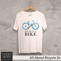 OceanSeven Kaos Distro All About Bicycle 24 Baju Pria T-Shirt Wanita