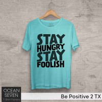 OCEANSEVEN.ID Kaos Distro Be Positive 2 TX Baju Pria T-Shirt Wanita