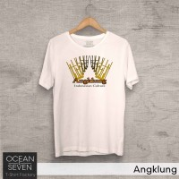 OCEANSEVEN.ID Kaos Distro Angklung Baju Pria T-Shirt Wanita