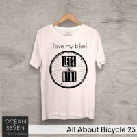 OCEANSEVEN.ID Kaos Distro All About Bicycle 23 Baju Pria T-Shirt