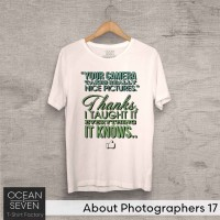 OceanSeven Kaos Distro About Photographers 17 Baju Pria T-Shirt Wanita