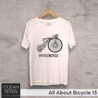 OceanSeven Kaos Distro All About Bicycle 13 Baju Pria T-Shirt Wanita