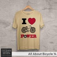 OceanSeven Kaos Distro All About Bicycle 14 Baju Pria T-Shirt Wanita