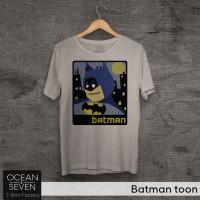 OCEANSEVEN.ID Kaos Distro Batman toon Baju Pria T-Shirt Wanita