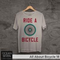 OceanSeven Kaos Distro All About Bicycle 18 Baju Pria T-Shirt Wanita