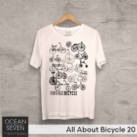 OceanSeven Kaos Distro All About Bicycle 20 Baju Pria T-Shirt Wanita