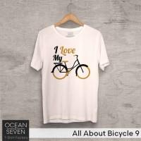 OceanSeven Kaos Distro All About Bicycle 9 Baju Pria T-Shirt Wanita