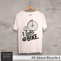 OceanSeven Kaos Distro All About Bicycle 4 Baju Pria T-Shirt Wanita