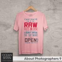 OceanSeven Kaos Distro About Photographers 9 Baju Pria T-Shirt Wanita
