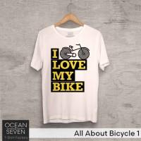 OceanSeven Kaos Distro All About Bicycle 1 Baju Pria T-Shirt Wanita