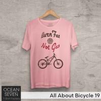 OceanSeven Kaos Distro All About Bicycle 19 Baju Pria T-Shirt Wanita