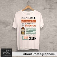 OceanSeven Kaos Distro About Photographers 1 Baju Pria T-Shirt Wanita