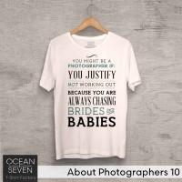 OceanSeven Kaos Distro About Photographers 10 Baju Pria T-Shirt Wanita