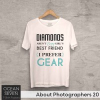 OceanSeven Kaos Distro About Photographers 20 Baju Pria T-Shirt Wanita