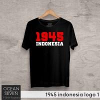 OCEANSEVEN.ID Kaos Distro 1945 indonesia logo 1 Baju Pria Murah