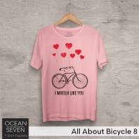 OceanSeven Kaos Distro All About Bicycle 8 Baju Pria T-Shirt Wanita