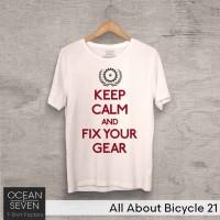 OceanSeven Kaos Distro All About Bicycle 21 Baju Pria T-Shirt Wanita