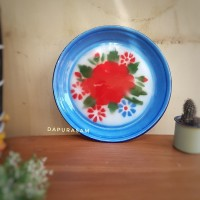 Nampan / Baki Enamel Kembang 30 cm