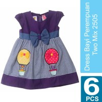 Baju Dress bayi size 6-12 bulan Two Mix 2505