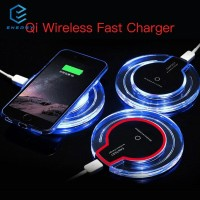 EGY Qi Dock Charger Cepat Wireless + Receiver untuk iPhone 5 / 6 / 7