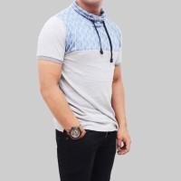 Kaos turtle neck pendek pria / kaos ala artis / kaos keren /polo shirt