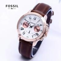 Jam Tangan Wanita FOSSIL Kulit Chronograph Aktif ( Jeep Rolex Alba )