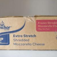 Keju Mozarella / Mozzarella Cheese Anchor Shredded / Parut 12 KG Halal