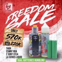 IDV FREEDOM SALE - BUNDLING THOR + CSMNT CLONE RDA + BATTERY + LIQUID