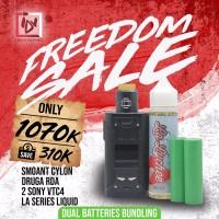 IDV FREEDOM SALE -BUNDLING SMOANT CYLON + DRUGA RDA + BATTERY + LIQUID