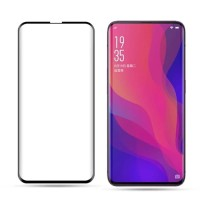 Tempered Glass Screen Guard Full Cover Ultra Thin Hitam HP Oppo Find X
