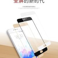 Tempered Glass Warna Colour Kaca Screen Guard Cover Full HP Meizu
