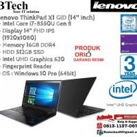 LENOVO ThinkPad X1 GID Carbon Intel Core i7-8550U/16GB/512GB/Win10Pro