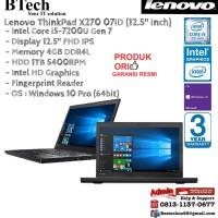 LENOVO ThinkPad X270 07ID Intel Core i5-7200U/4GB/1TB/Win10Pro