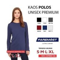 Promo Faremost-Kaos Wanita Polos Lengan Panjang Cotton Combed 30S