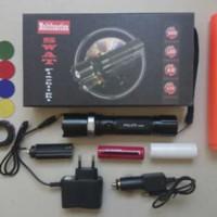 #Senter senter police swat kompas + 4 lensa warna