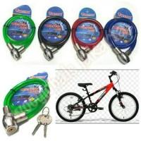 #Gembok kunci sepeda / kepala besi