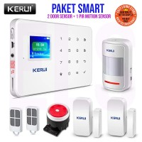 ORIGINAL KERUI G18 Wireless GSM Home Alarm IOS/Android, Paket Smart
