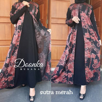 Jual Abaya Turki Premium - Busana Muslimah Import - DOONKA Busana Red Sutra Murah